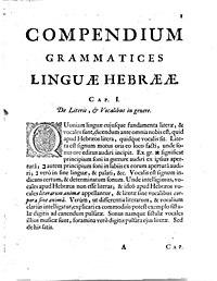 Compendio di lingua ebraica cover