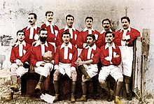 The first Benfica team, in 1904