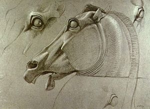 Benjamin Haydon - Head of Selene's horse, 1809. British Museum, London.