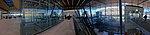 Bergen Lufthavn, Flesland (Bergen Airport, BGO) Terminal 3 avgangshall departure hall NORWAY 2017-11-02 distorted panorama b.jpg