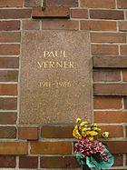 Berlin Friedrichsfelde Zentralfriedhof, Gedenkstätte der Sozialisten (Urnenwand) - Verner