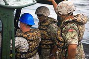 Bermuda Regiment and USMC engineers at Camp Lejeune 7 May 2013