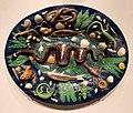 Bernard palissy (cerchia), piatto con serpentesso e animaletti, 1590 ca.jpg
