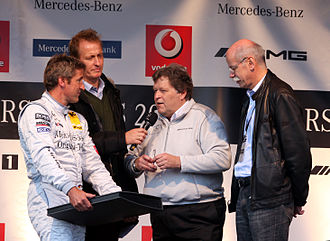 Norbert Haug - Haug together with Bernd Schneider (on the left) and Dieter Zetsche (right) in 2008