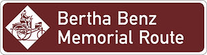 Bertha Benz - Official signpost of Bertha Benz Memorial Route