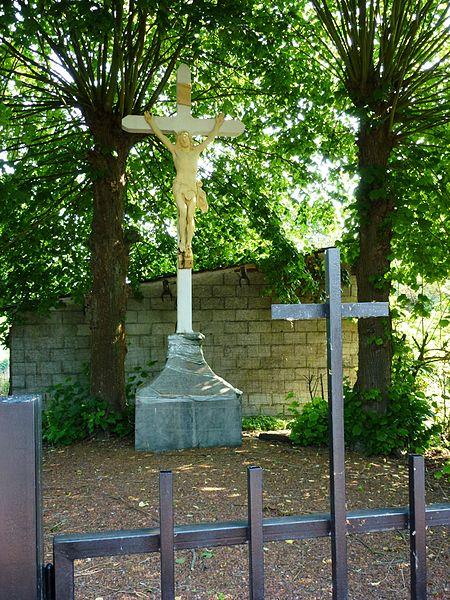 Beuvry-la-Forêt (Nord, Fr) croix de chemin, D953