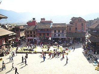 Malla (Kathmandu Valley) - Image: Bhaktapur city centre large