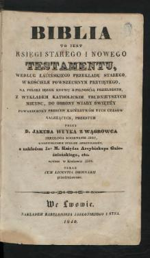Biblia Wujka 1840 Vol. I part 1.djvu