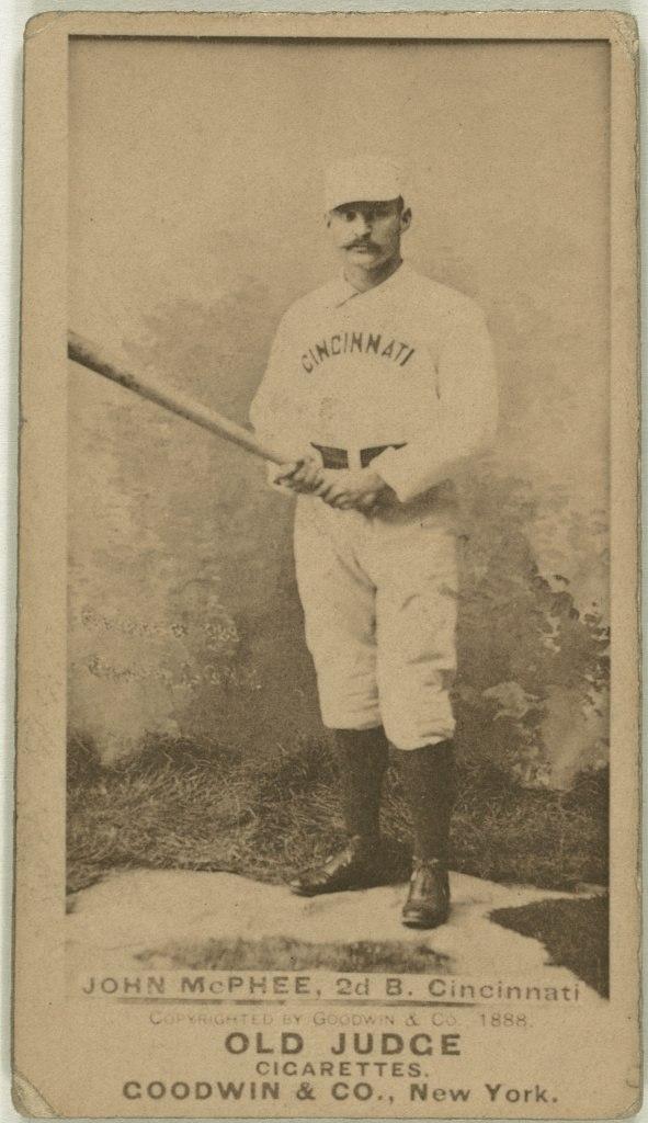 Bid McPhee, Cincinnati Red Stockings, baseball card portrait LCCN2007686981