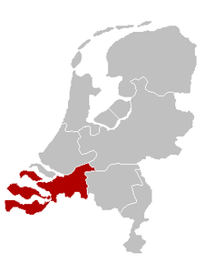 Mapa da diocese de Breda