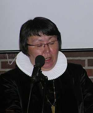 Greenlandic Inuit - Bishop Sofie Petersen, first Inuit Lutheran Bishop, 2006