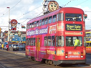 English Electric Balloon tram - Millennium car 718, pictured before receiving RVAR compliance modifications.