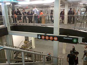 Bleecker Street/Broadway–Lafayette Street (New York City Subway) - The new transfer