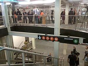 Bleecker Street/Broadway–Lafayette Street (New York City Subway) - The new transfer