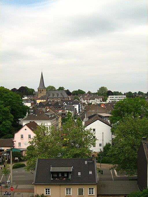 Blick auf Stadt Mettmann