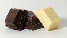 Tre pezzi di cioccolato