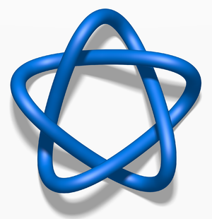 Unknotting number - Image: Blue Cinquefoil Knot