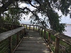 Brunswick Town, North Carolina - Boardwalk overlooking the Cape Fear River