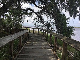 Brunswick Town, North Carolina - Boardwalk overlooking the Cape Fear River