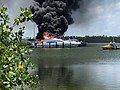 Boat cut fire in boat jetty today at South Florida Naples.jpg