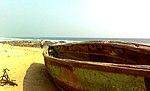 Boat side view of sea at RK Beach 02.jpg