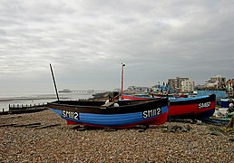 Boats on the Beach, Worthing, West Sussex - geograph.org.uk - 647771.jpg