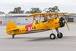 Boeing E75 Stearman (VH-SXT) taxiing at Wagga Wagga Airport.jpg