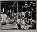 Boer War; wounded soldiers lying inside a hospital train. Ha Wellcome V0015602.jpg