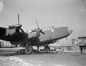 No. 51 Squadron RAF - Loading bombs into a 51 Squadron Halifax at RAF Snaith