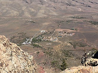 Bonnie Springs Ranch - Bonnie Springs, seen from the Spring Mountains in 2006