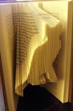 Book origami cat