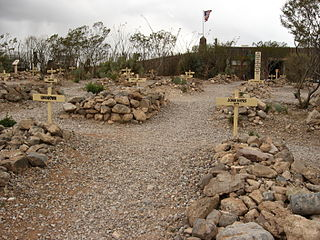 Boot Hill type of American cemetery