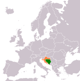 Diplomatic relations between Bosnia and Herzegovina and the Republic of Croatia