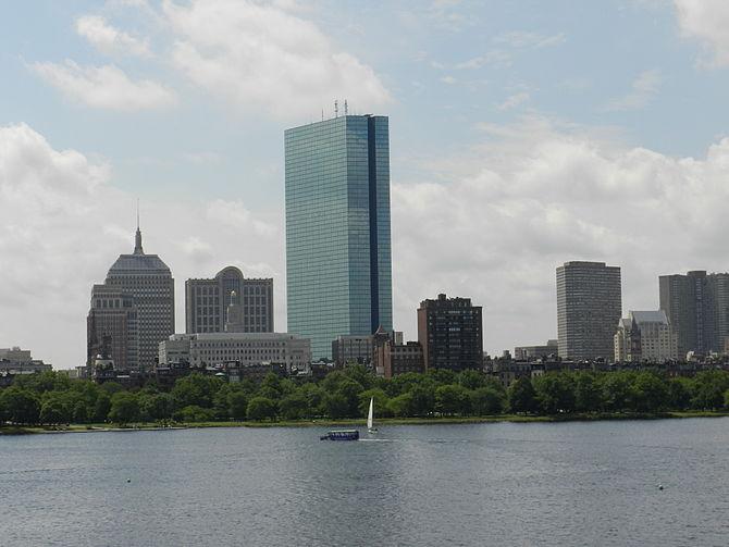 English: Boston's Back Bay from the Longfellow...