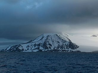 Botev Peak, Livingston Island - Botev Peak from Bransfield Strait.