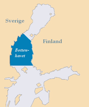 The area of the Bothnian Sea.