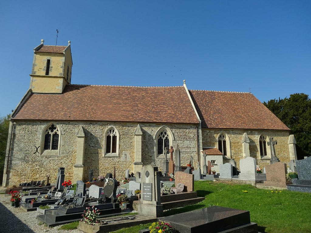 Boulon, Façade sud et clocher de l'église.JPG