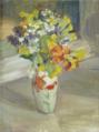 Bouquet de fleurs, toile par Ernest Roman.png