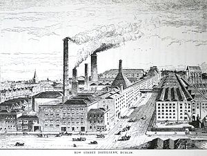 Irish whiskey - Jameson's Bow Street distillery pictured in Alfred Barnard's 1887 report on the distilleries of Britain and Ireland.