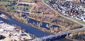 Red Deer River in Red Deer