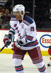 Brad Richards con la maglia dei New York Rangers