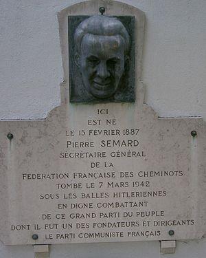 Pierre Semard - Bragny-sur-Saône - stela of Pierre Semard