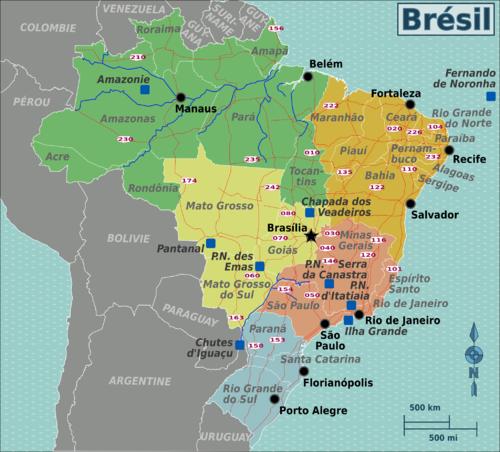 carte-bresil - Photo