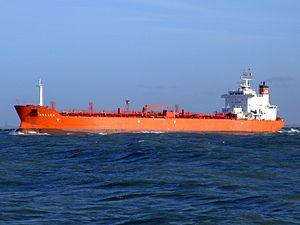 Bregen p2 leaving Port of Rotterdam, Holland 14-Jan-2007.jpg