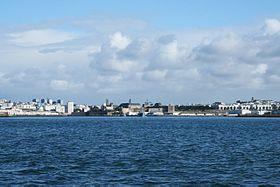 L'entrée du port de Brest.