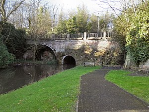 Listed buildings in Worsley - Image: Bridge over the Bridgewater Canal at The Delph, Worsley