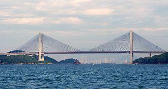 Kap Shui Mun Bridge - Image: Bridges of Hong Kong harbor 4