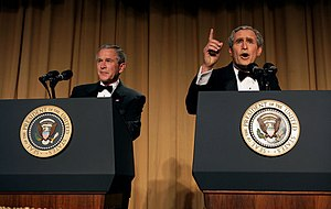 Steve Bridges - Bridges (right) and George W. Bush at the White House Correspondents' Dinner