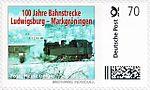 Briefmarke 100 J Bahnstrecke Ludwigsburg-Markgroeningen AGD.jpg