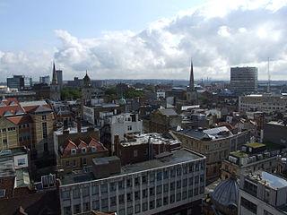 Bristol city centre human settlement in United Kingdom